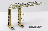 Mock Assy of Vertical Supports & Gantry